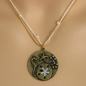 Gold Sea Creatures Necklace