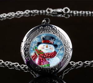 Personalized Jolly Snowman Locket