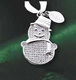 Personalized Glitter Galore Snowman Ornament