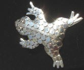 Frog Pin Sterling Silver