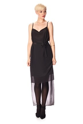 French Connection Selene Silk Strappy Tie Waist Dress
