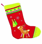 Personalized Baby Reindeer Christmas Stocking