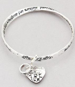 Mothers Daughters Twist Bangle Bracelet
