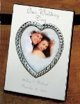 Engraved Silver Wedding, Anniversary or Engagement Picture Frame