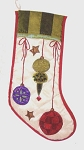 Colorful Satin Ornaments Christomas Stocking