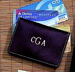 Personalized Leather Expanding Credit Card Case