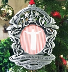 Personalized Merry Christmas from Heaven ®  Pewter PHOTO Ornament