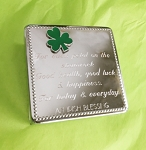 Shamrock Silver Jewelry Box