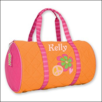 Personalized Quilted Peace Duffle Bag